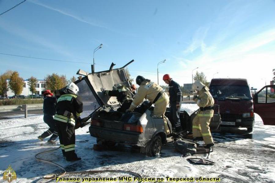 В Ржевском районе прошла тренировка экстренных служб по ликвидации последствий ДТП
