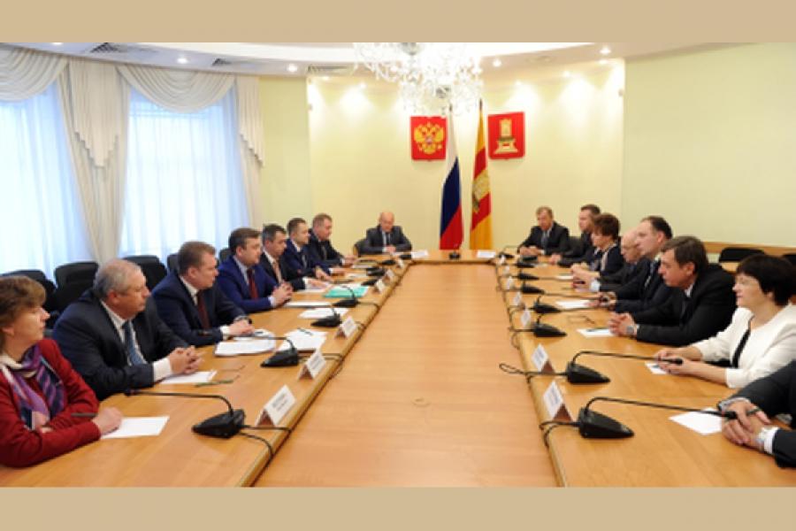 Губернатор встретился с вновь избранными главами муниципалитетов