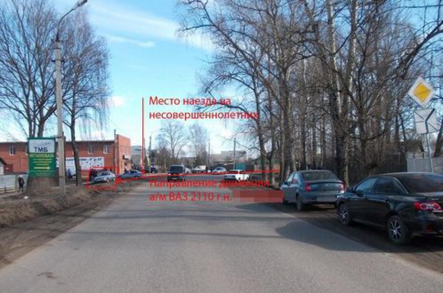 В Ржеве водитель сбил трех девочек 10, 11 и 14 лет
