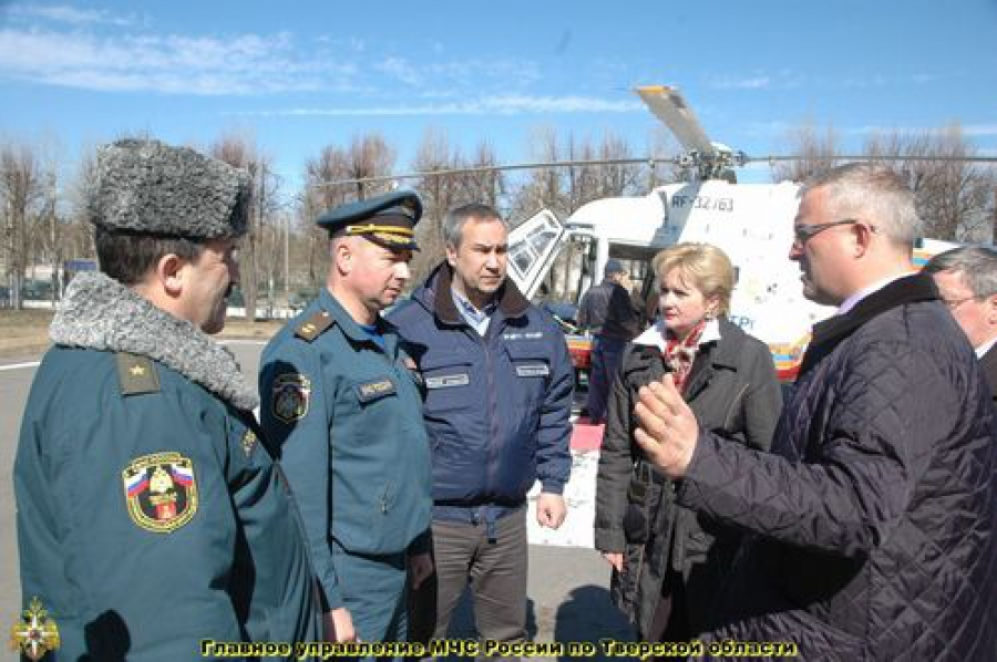 Главный военный эксперт МЧС осмотрел тверские вертолетные площадки
