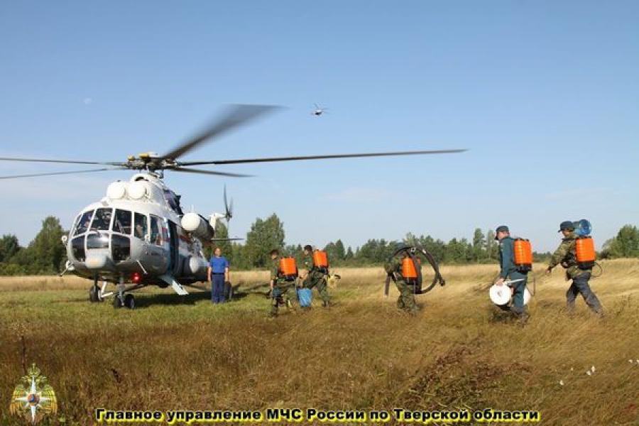 В борьбе с пожарами в Тверской области будут активно использоваться десантные группы