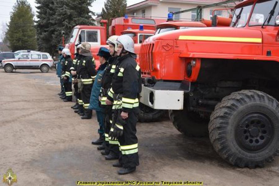В Тверской области на смотре оценили силы и средства для борьбы с лесными пожарами