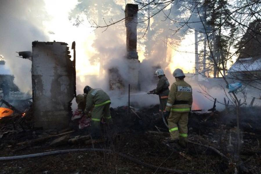 Пожар в Тверской области унес жизни женщины и двух детей