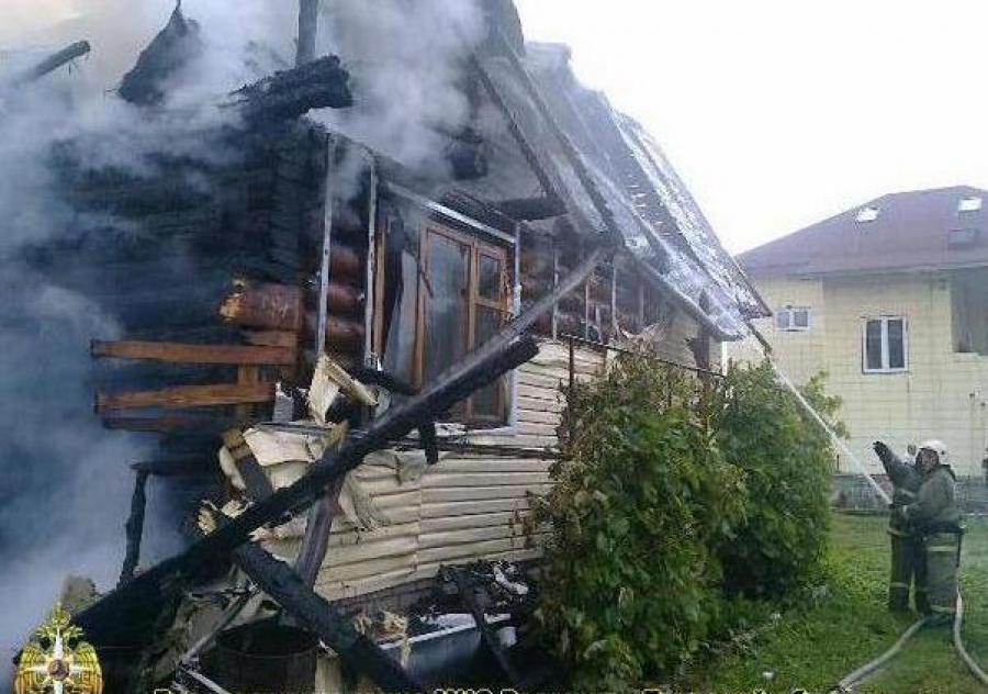 В Конаковском районе от огня пострадал жилой дом