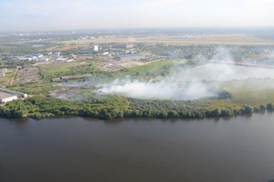 Торфяной пожар в районе поселка Орша локализован на площади 12 гектаров