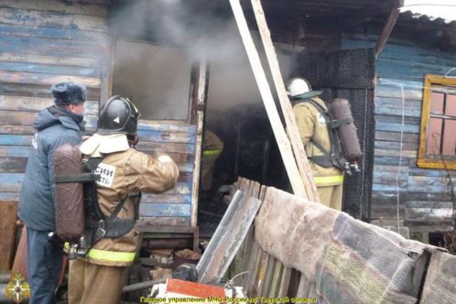 В Калязине в огне погибли два человека
