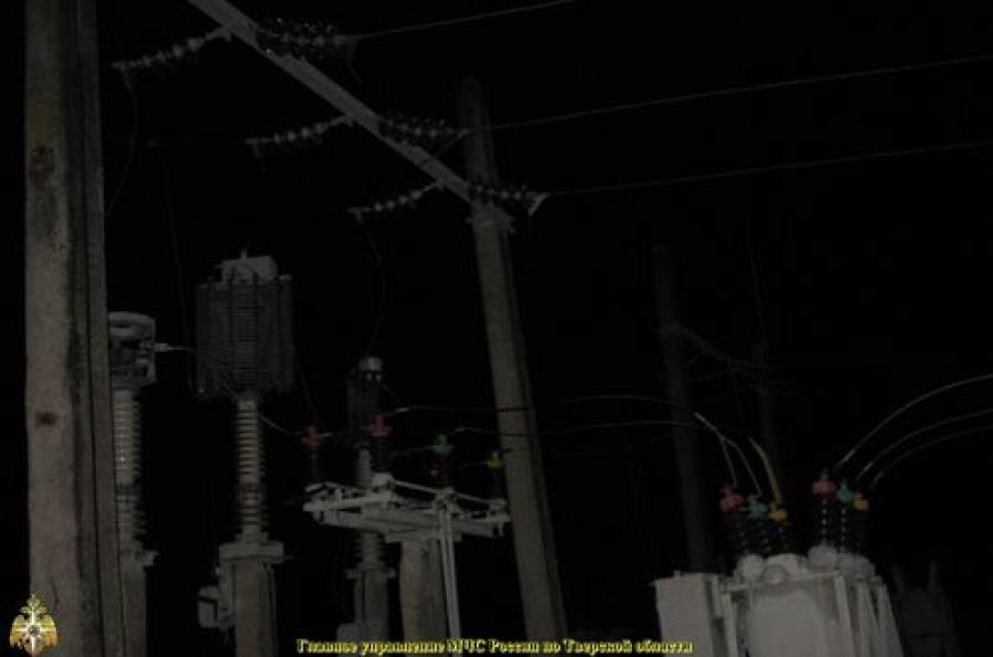 Для восстановления электроснабжения в Тверской области привлечены специалисты из других регионов