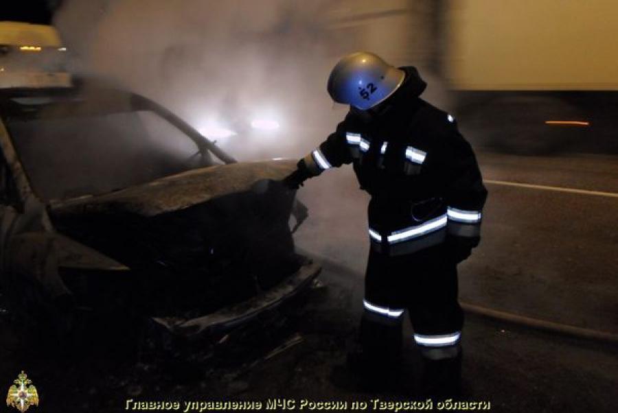 В Московском районе Твери сожгли автомобиль