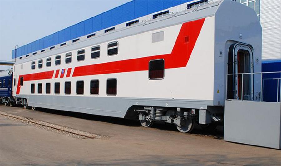 Первый «двухэтажный» состав отправился из Твери на Северо-Кавказскую железную дорогу