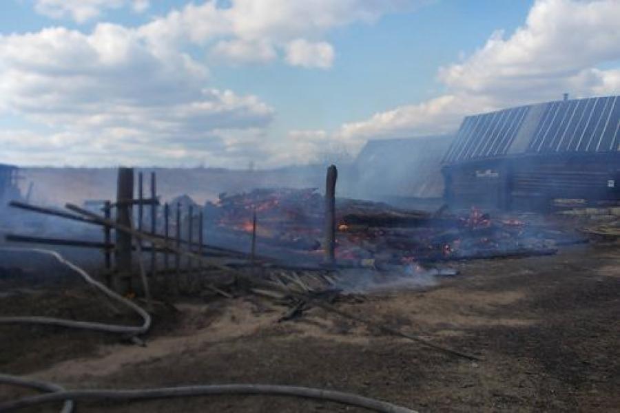 Жилой дом сгорел дотла в Кувшиновском районе