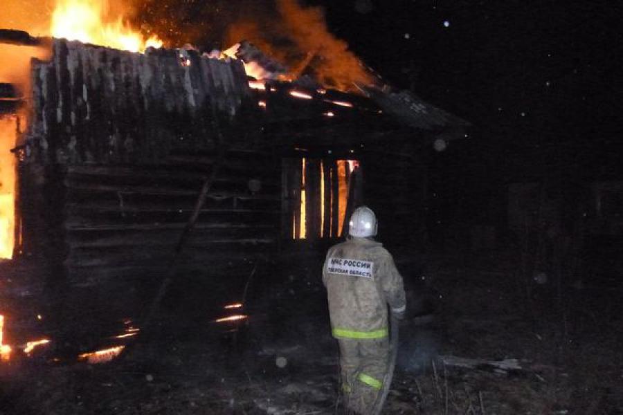 На пожаре в Кесовогорском районе пострадал человек