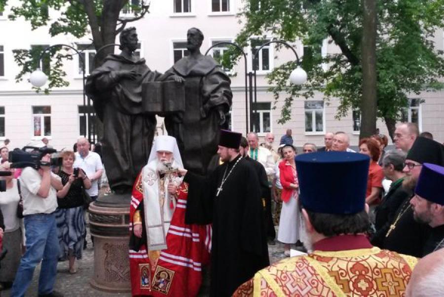 Памятник Кириллу и Мефодию появился в Твери