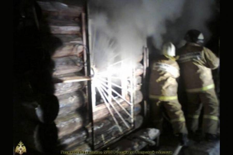 В Кушиновском районе дом сгорел дотла
