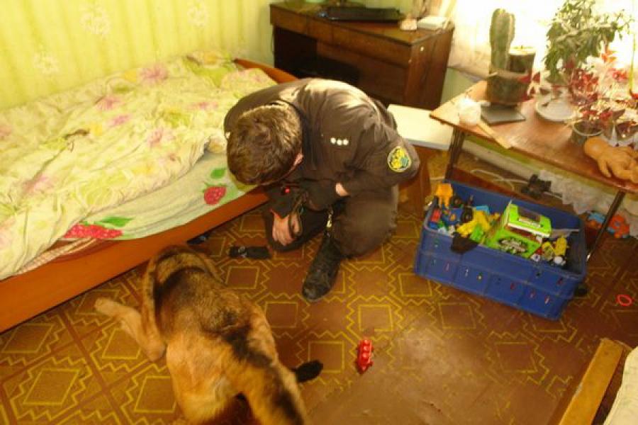 Служебная собака нашла наркотики под детской кроватью и в тайнике в автомобиле