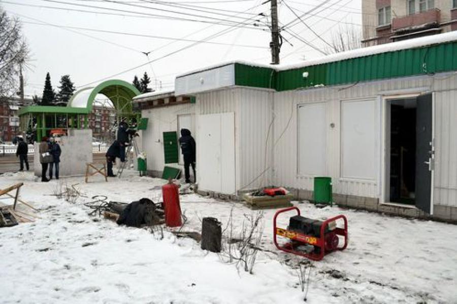 На Комсомольской площади снесли незаконный объект — игровой клуб
