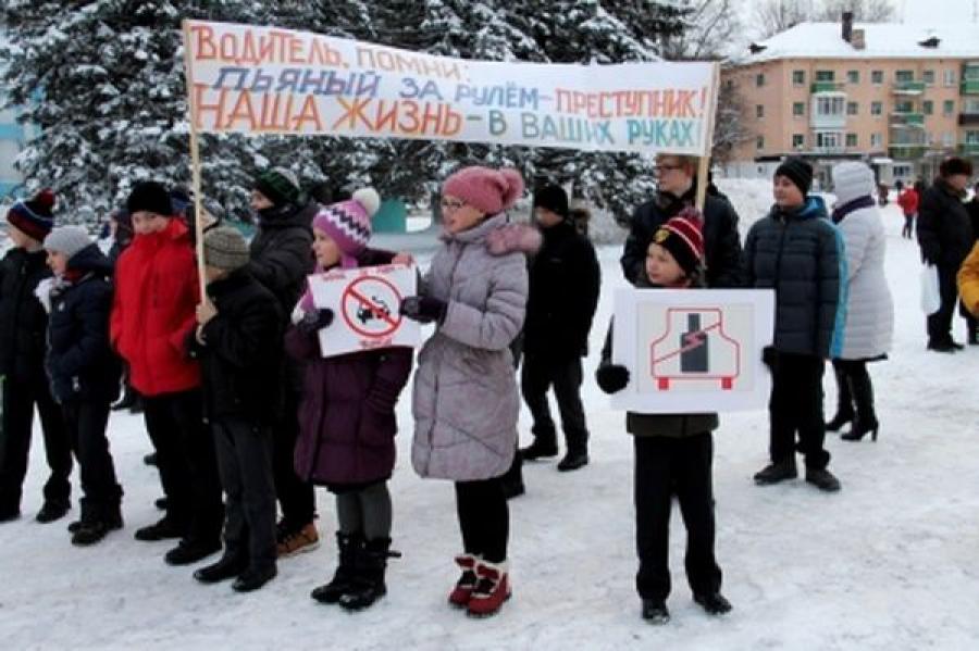 Нелидовские гимназисты и сотрудники ГИБДД выступили против пьянства за рулем