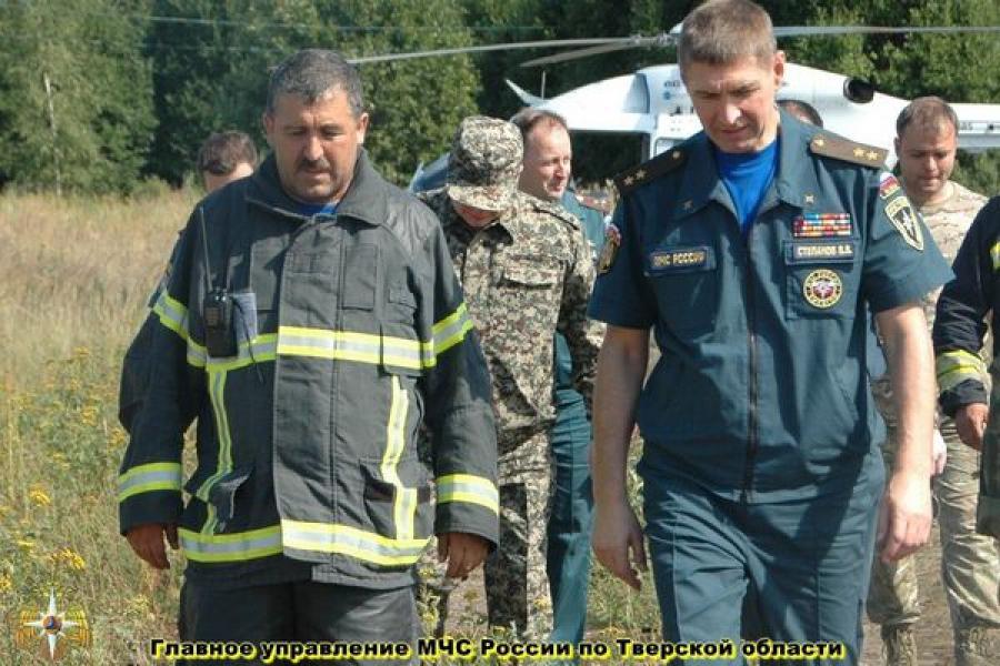 Замминистра МЧС России оценил ситуацию с лесными пожарами в Тверском регионе