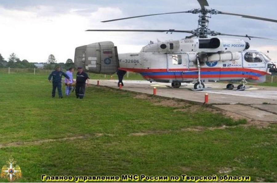 Тверского пациента отправили на вертолете в Санкт-Петербург