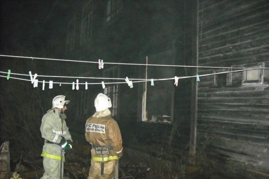 Жилой дом сгорел в Тверской области