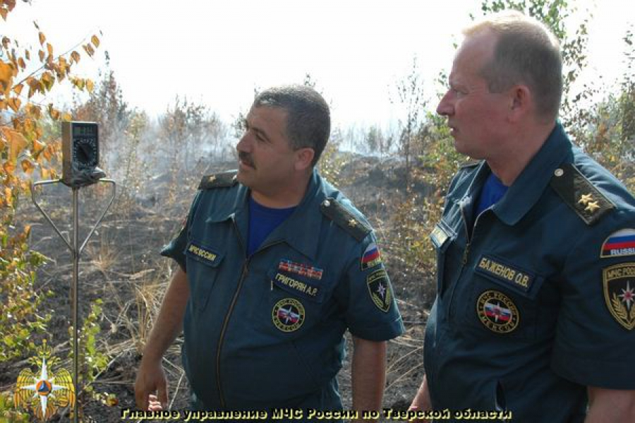 Лесные пожары в Калининском районе рассмотрели с воздуха
