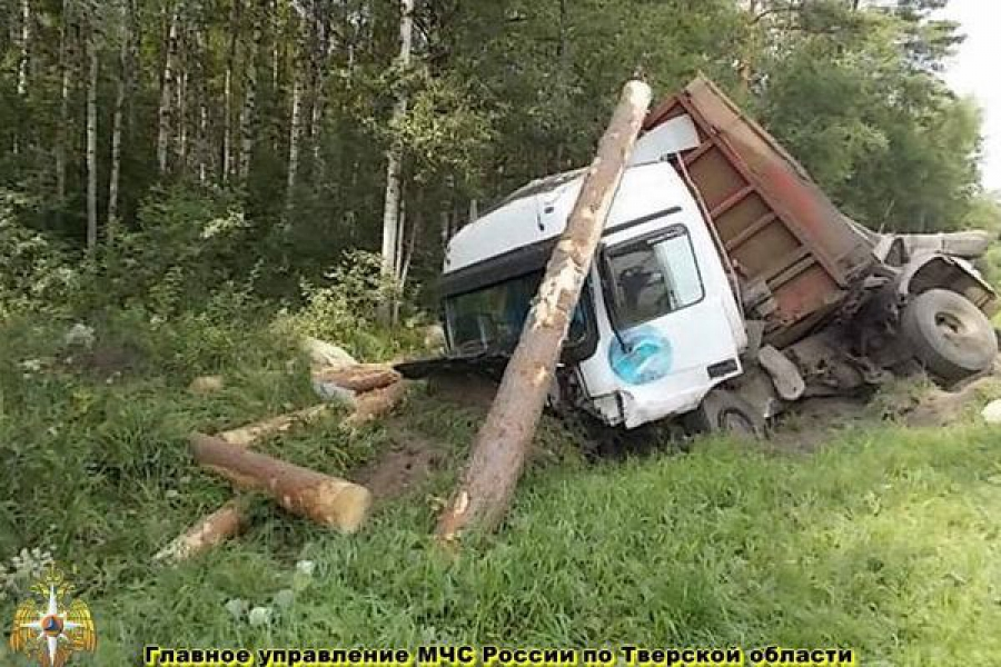 В Вышневолоцком районе столкнулись грузовик и легковушка: погиб человек