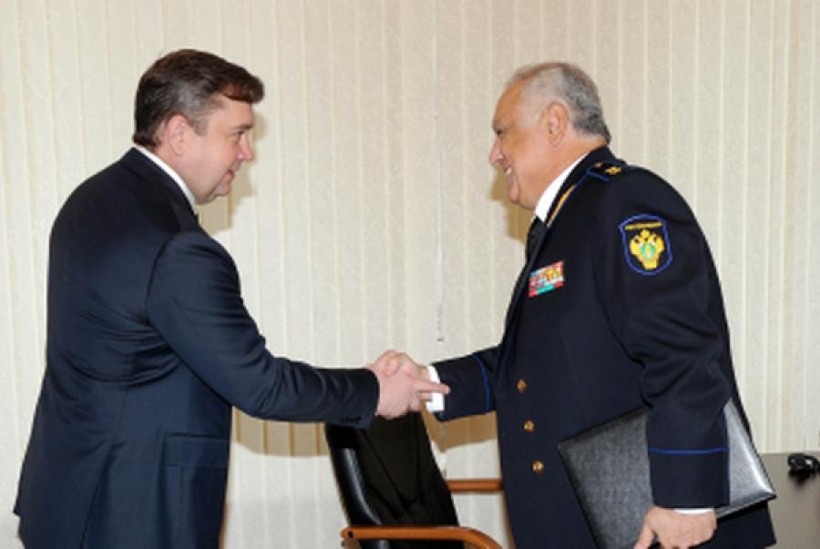 Губернатор и руководитель Центрального управления Ростехнадзора договорились продолжать взаимодействие