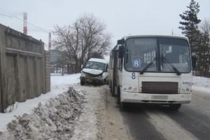 Столкновение двух маршруток в Твери
