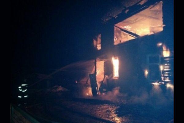 Пожар в Бологовском районе