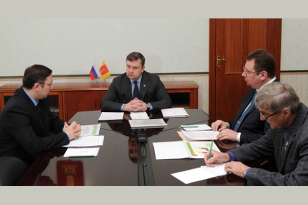 Встреча губернатора Андрея Шевелева и министра природных ресурсов Сергея Орлова