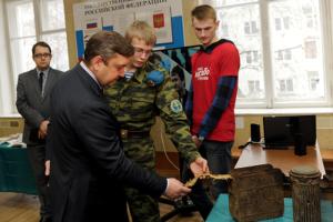 ТГТУ. Губернатор Андрей Шевеле в музее воинской славы
