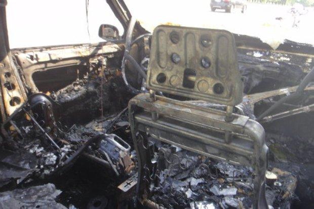 Сгорел автомобиль