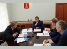 Встреча губернатора и главы РЭК