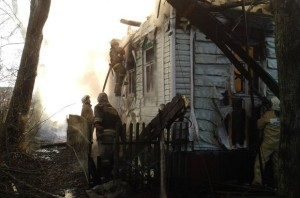 Пожар в деревне Поповка: пострадал человек