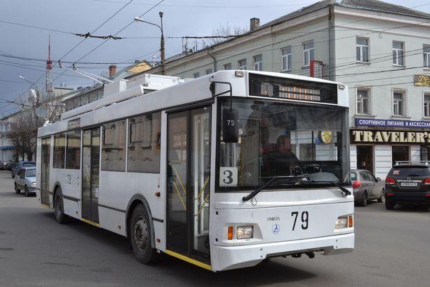 Маршрут движения троллейбуса
