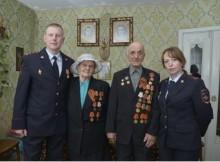 Бежецкий ветеран и сотрудники вневедомственной охраны