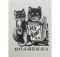 Экслибрис с кошками