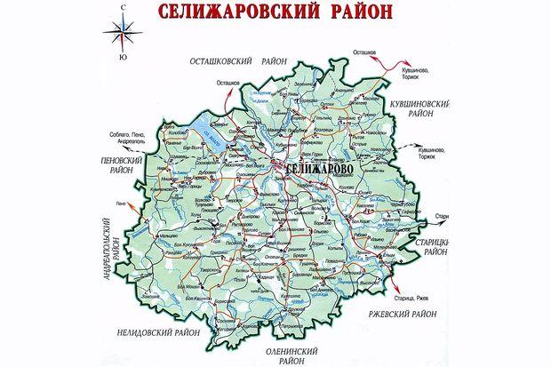 Карта Селижаровского района