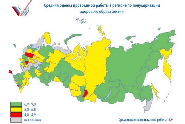 Оценка ЗОЖ по регионам