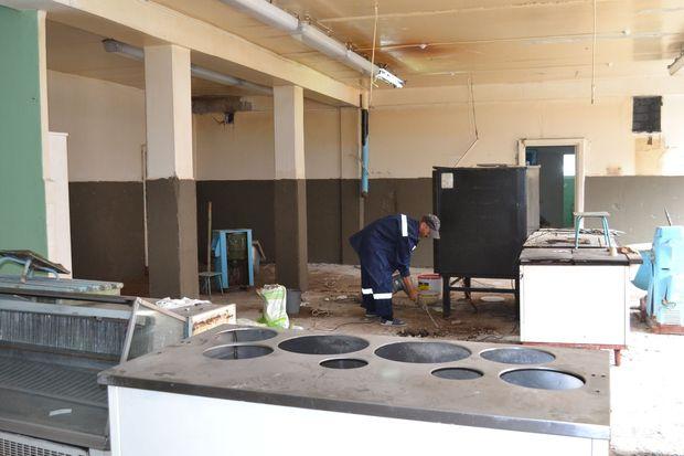 Школа-столовая-ремонт