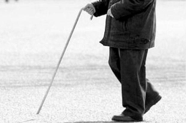 Старик с тростью
