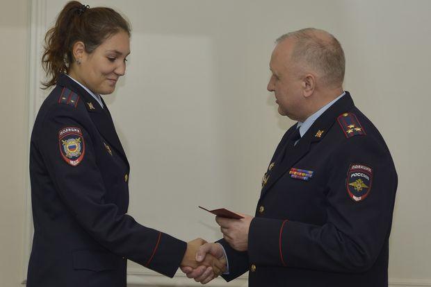 Вручение удостоверений МВД-1