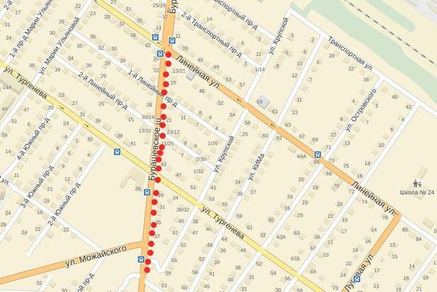 Карта_Бурашевское шоссе