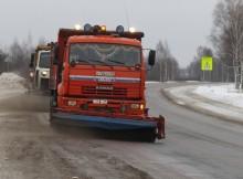 Зима уборка дороги