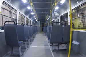 Трамвай Татра_салон