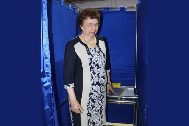 кабинка для слепых избирателей