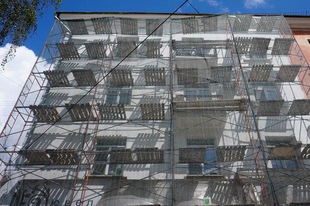 Покраска фасадов , площадь Терешковой