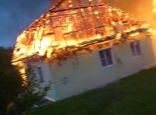 пожар от молнии