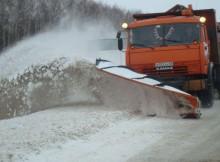 уборка снега на трассе