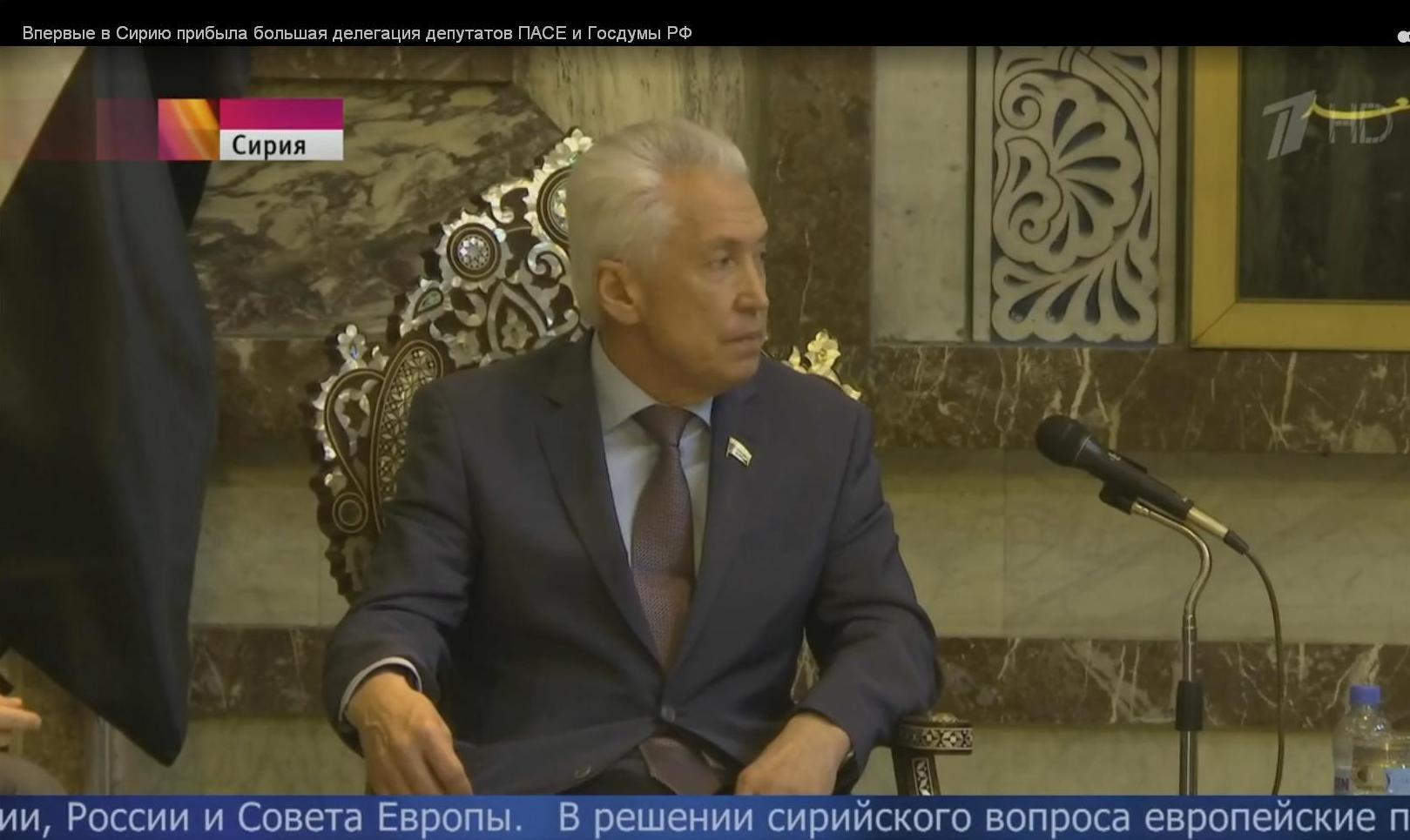 Украина требует отПАСЕ объяснений овизите депутатовРФ вСирию