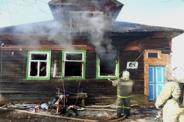 Напожаре вСпировском районе погибла женщина